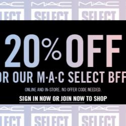 HOT HOT HOT!!! M.A.C sale hấp dẫn 20% cho thành viên